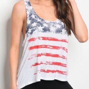American Flag Tank USA Freedom Patriotic Tank 🇺🇸